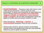 paulo e a doutrina do sustento financeiro iv