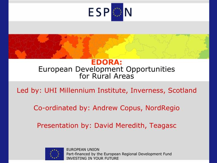 Edora european development opportunities for rural areas