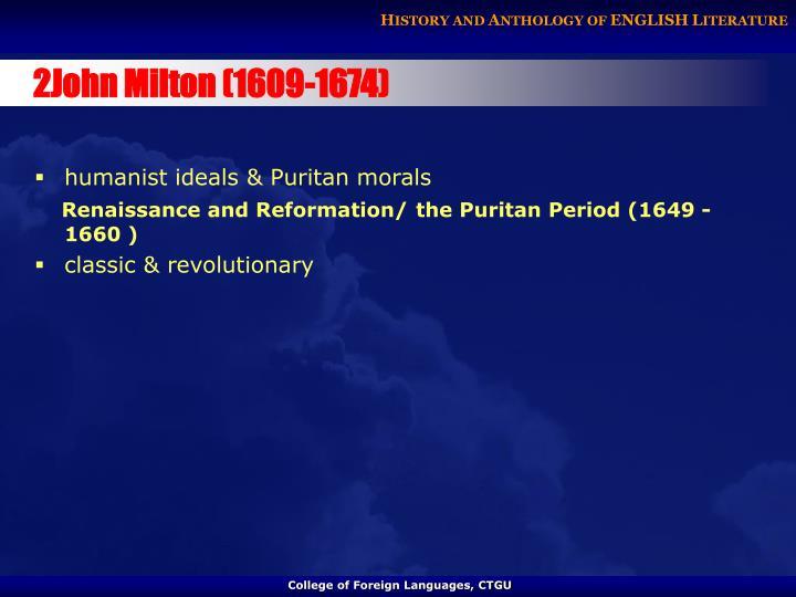 2John Milton (1609-1674)