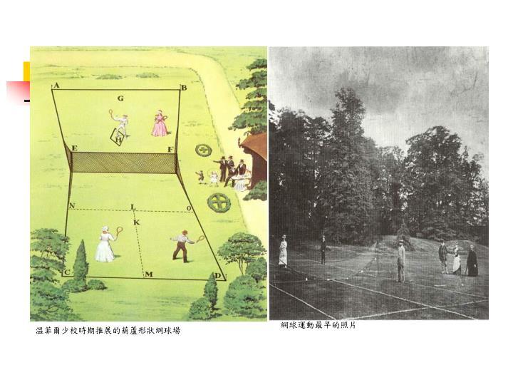 網球運動最早的照片