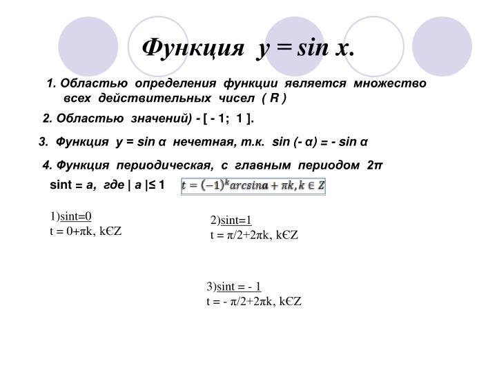 Функция  у =