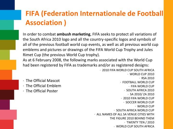 FIFA (Federation Internationale de Football Association )