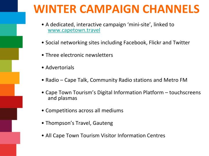 WINTER CAMPAIGN CHANNELS