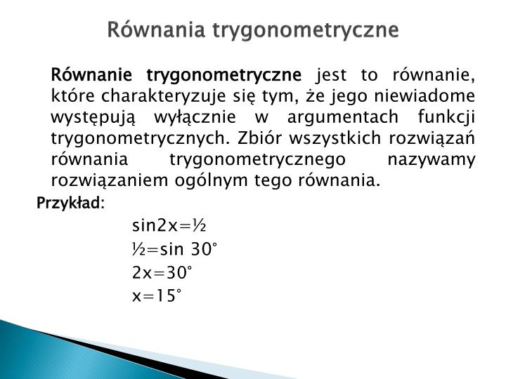 Równania trygonometryczne
