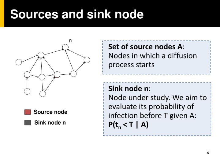 Sources and sink node