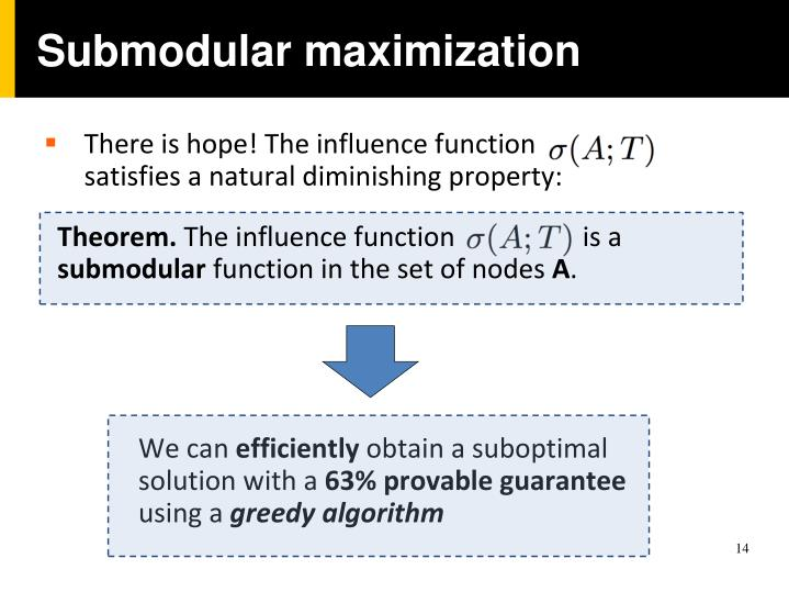 Submodular maximization