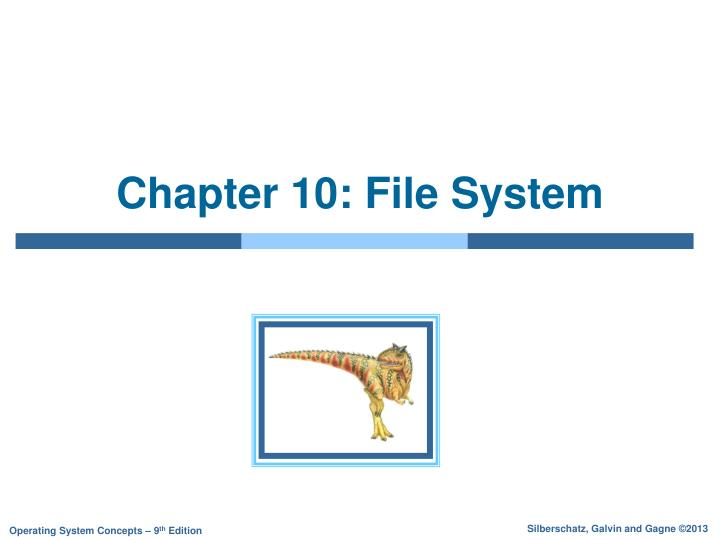 Chapter 10 file system