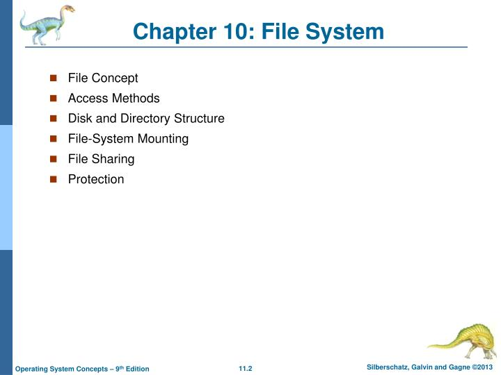 Chapter 10 file system1