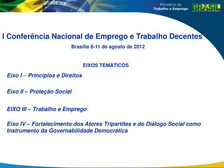 I Conferência Nacional de Emprego e Trabalho Decentes