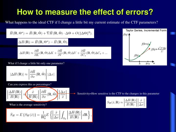 How to measure the effect of errors?