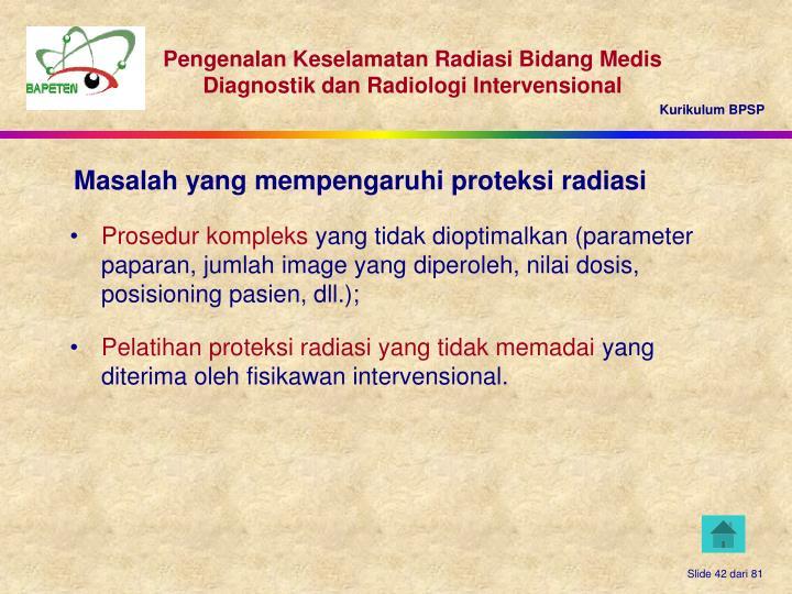 Pelatihan proteksi radiasi yang tidak memadai