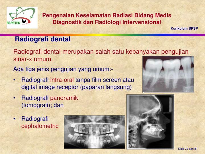 Radiografi dental