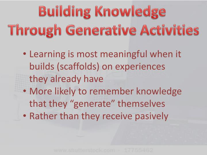 Building Knowledge