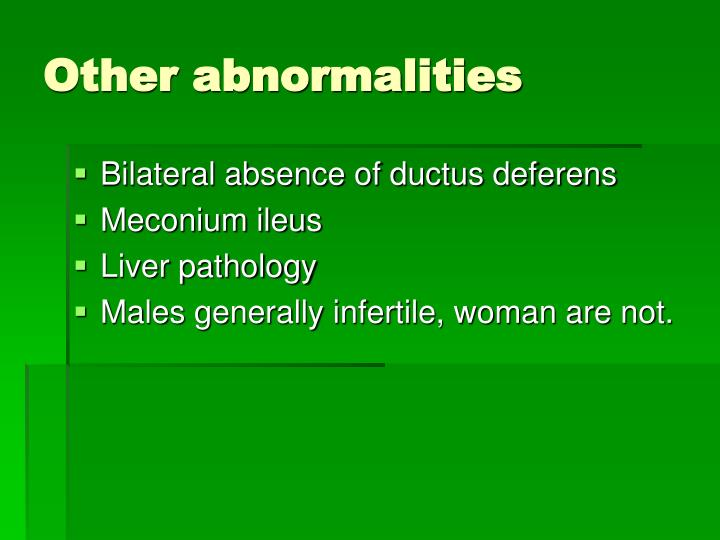 Other abnormalities