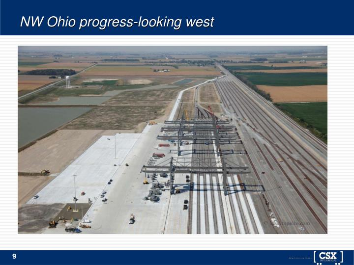 NW Ohio progress-looking west