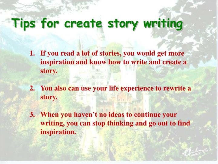 Tips for create story writing
