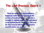 the lost precious sword