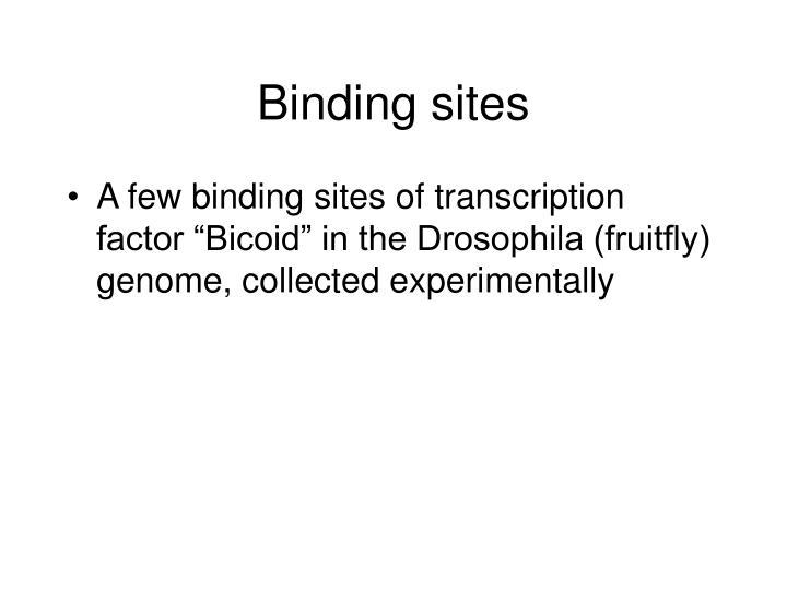 Binding sites