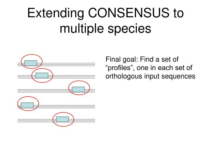 Extending CONSENSUS to multiple species