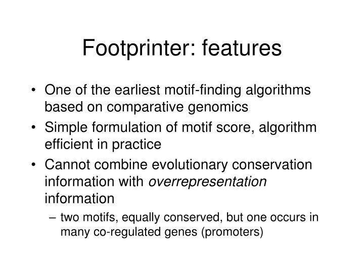Footprinter: features