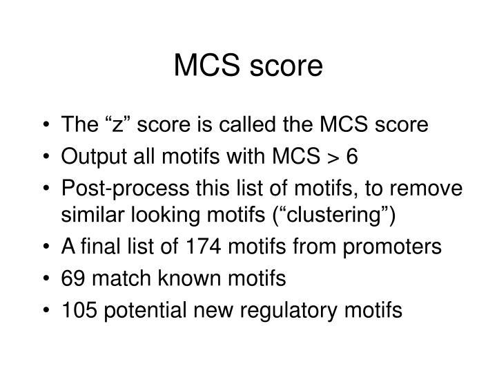 MCS score