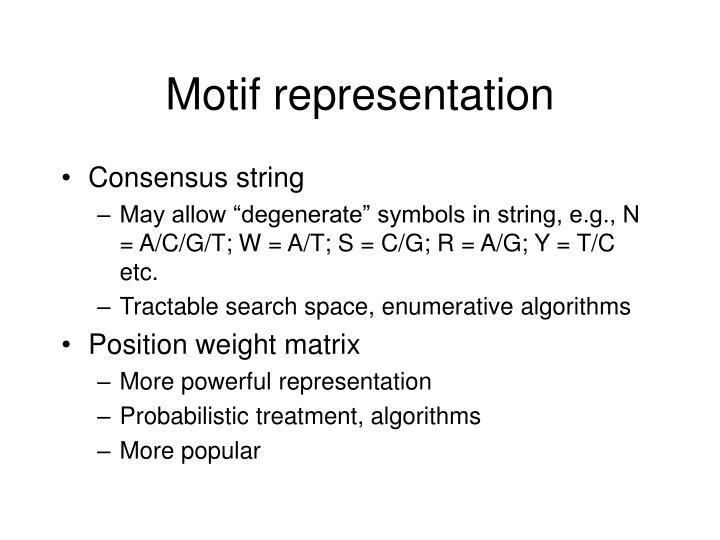 Motif representation