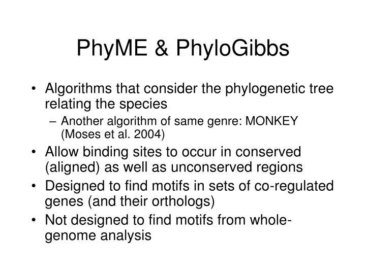 PhyME & PhyloGibbs