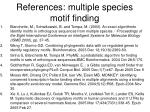references multiple species motif finding
