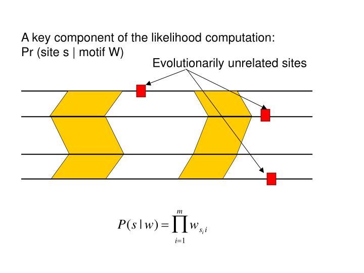 A key component of the likelihood computation: