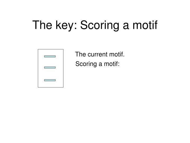 The key: Scoring a motif