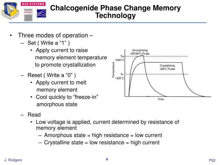 Chalcogenide Phase Change Memory Technology