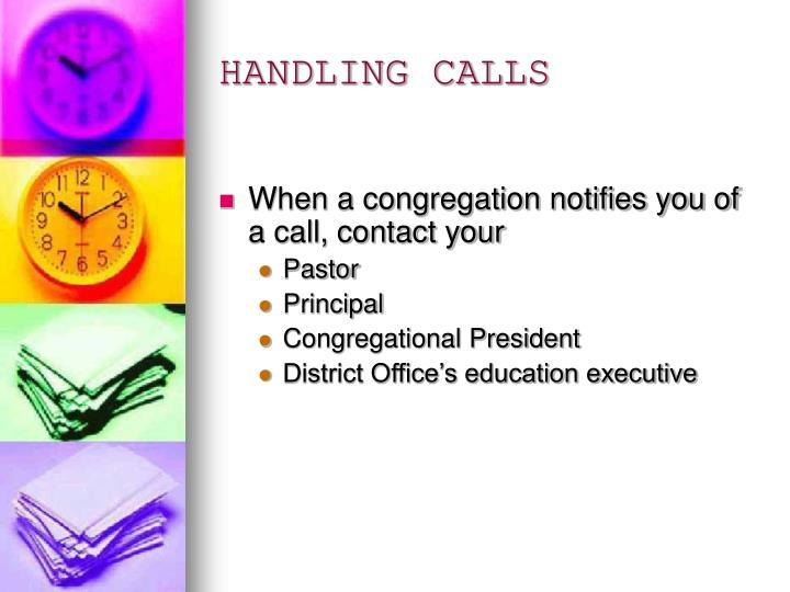 HANDLING CALLS