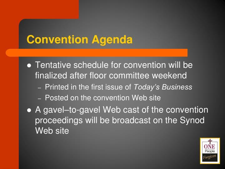 Convention Agenda
