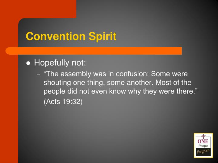 Convention Spirit