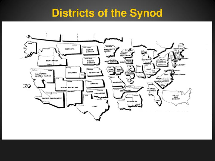 Districts of the Synod