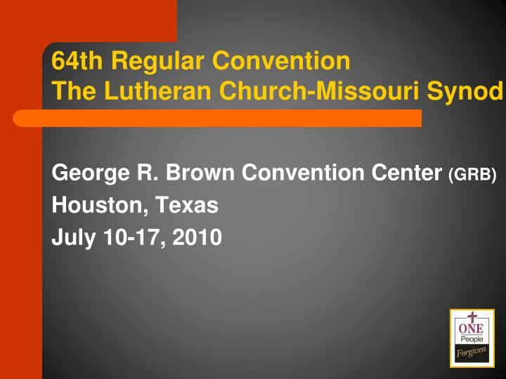 64th Regular Convention