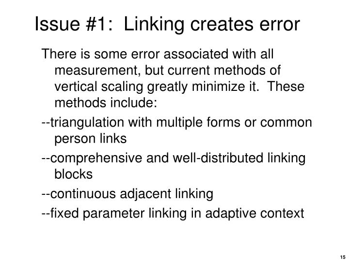 Issue #1:  Linking creates error
