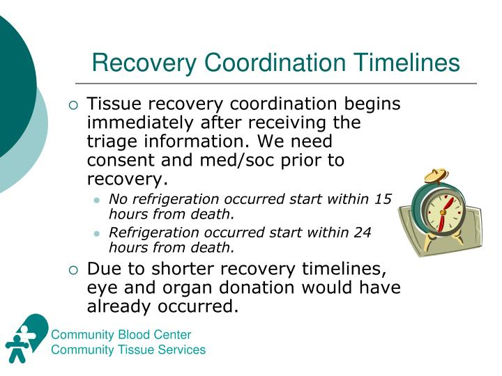 Recovery Coordination Timelines