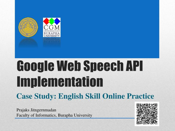 Google web speech api implementation