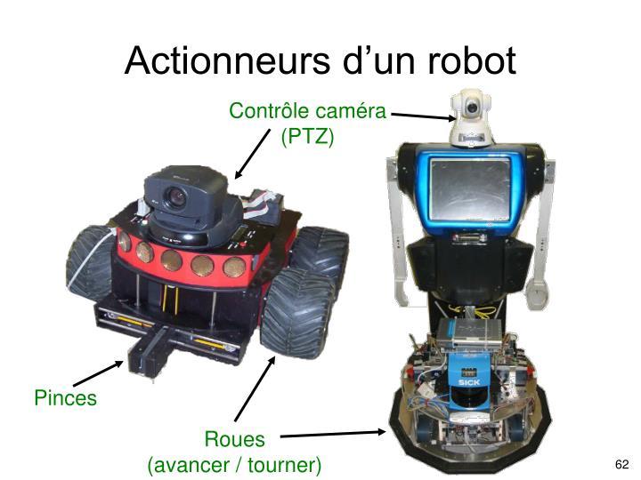 Actionneurs d'un robot