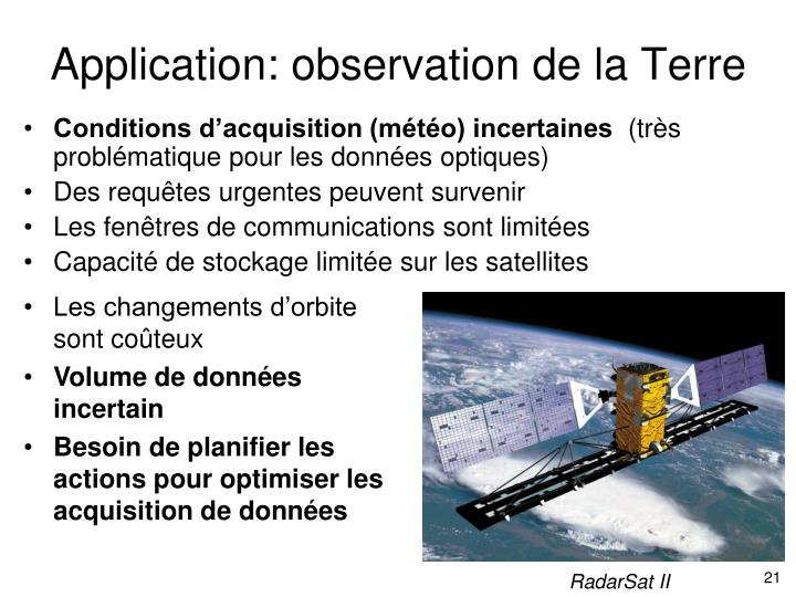 Application: observation de la Terre