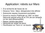 application robots sur mars