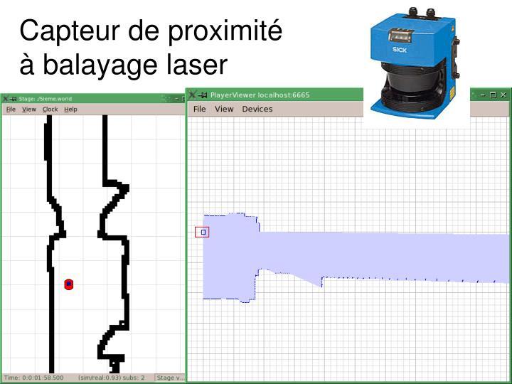 Capteur de proximité à balayage laser