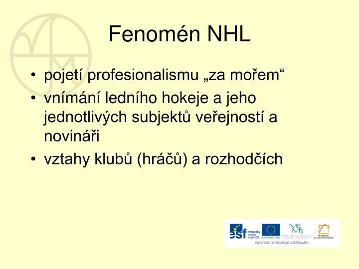 Fenomén NHL