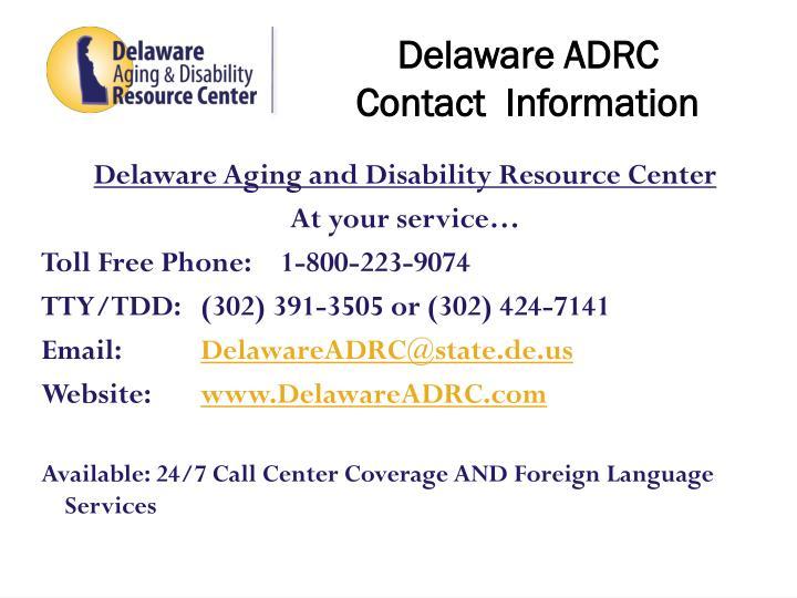 Delaware ADRC