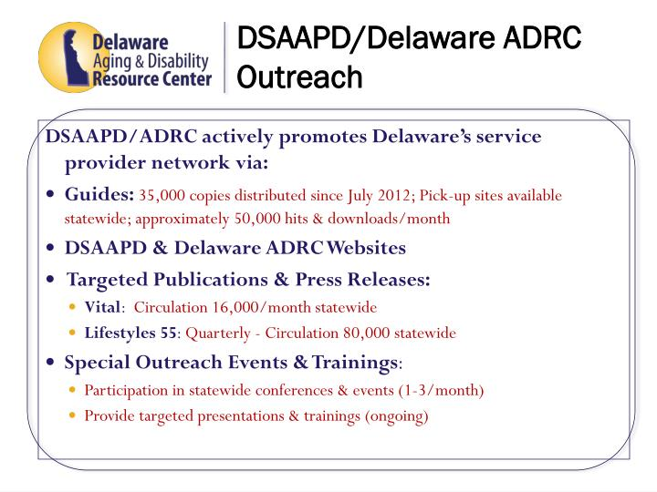 DSAAPD/Delaware ADRC