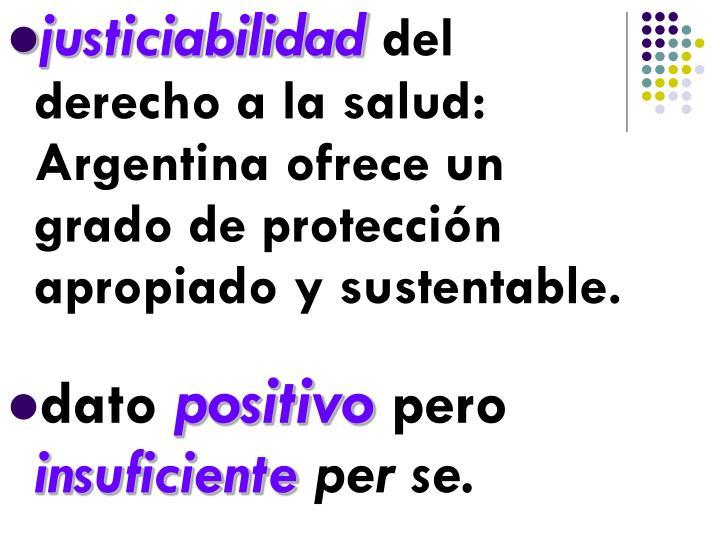 justiciabilidad