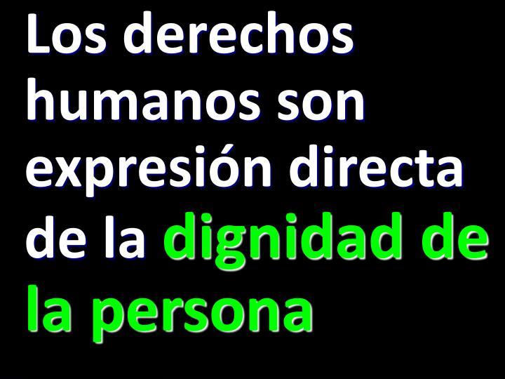 Los derechos humanos son expresión directa de la