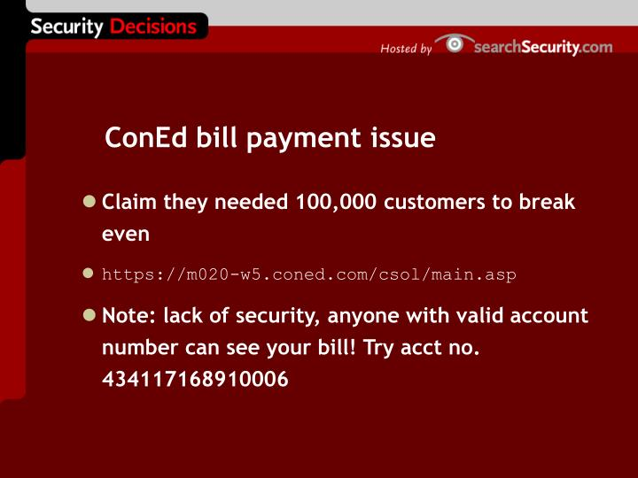 ConEd bill payment issue