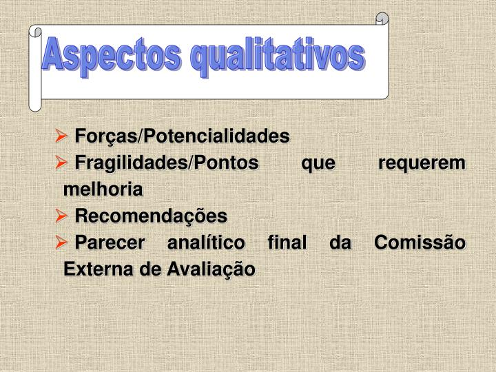 Aspectos qualitativos